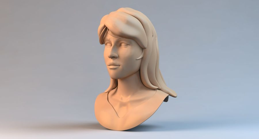Female Face royalty-free 3d model - Preview no. 3