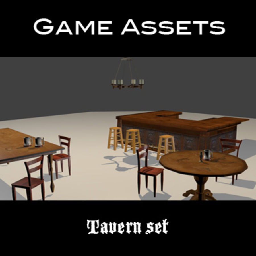 Tavern Assets royalty-free 3d model - Preview no. 1