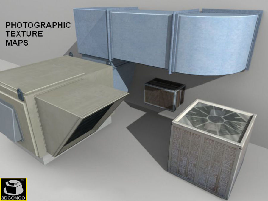 HVAC Ductwork & Air Units Kit 1 royalty-free 3d model - Preview no. 5