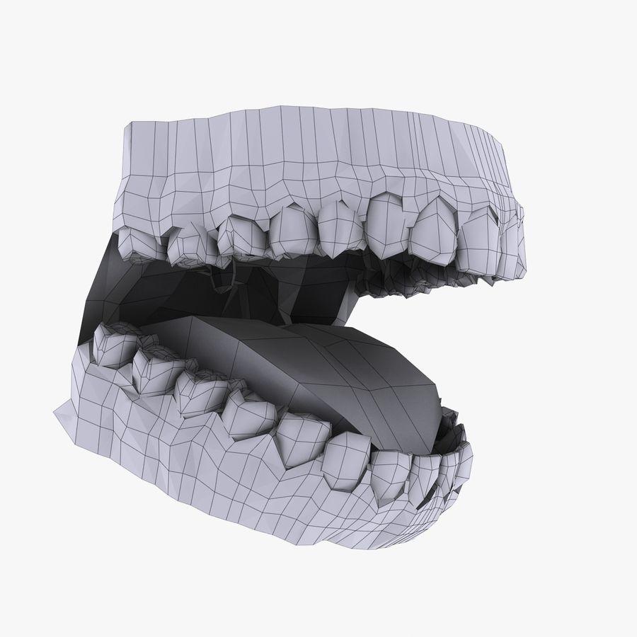 人类的牙齿 royalty-free 3d model - Preview no. 11