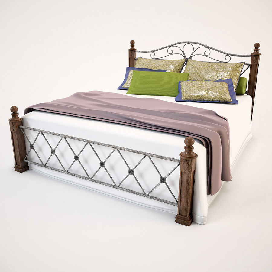 Bed_02 royalty-free 3d model - Preview no. 3