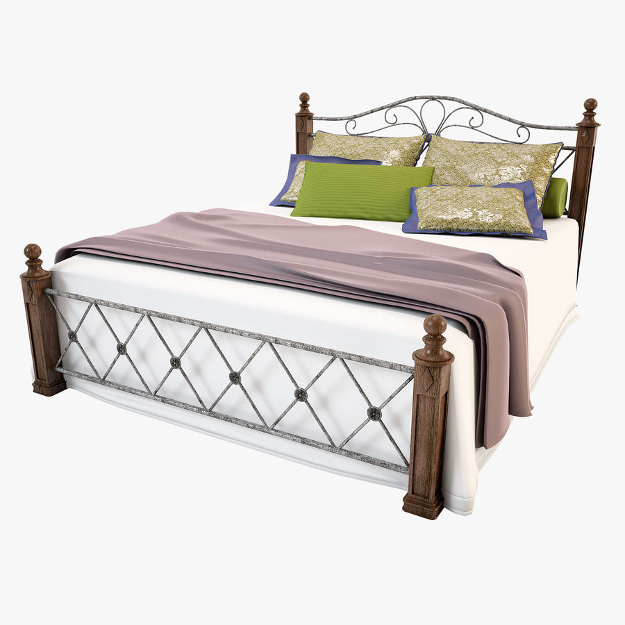 Bed_02 royalty-free 3d model - Preview no. 1