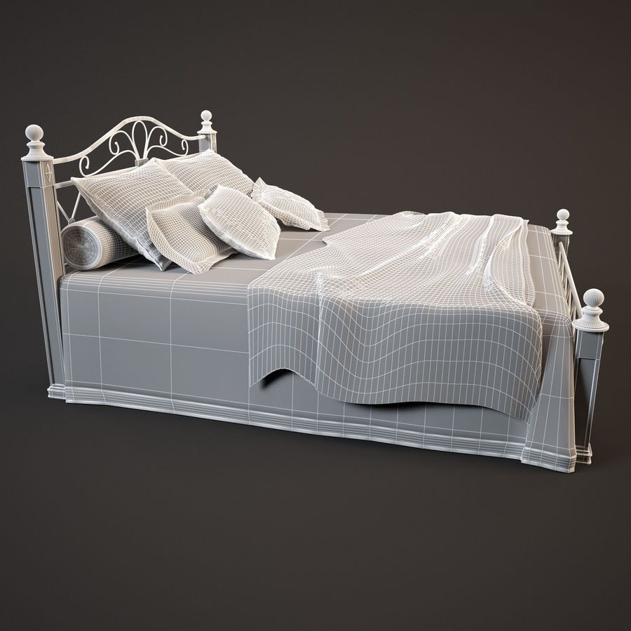 Bed_02 royalty-free 3d model - Preview no. 6