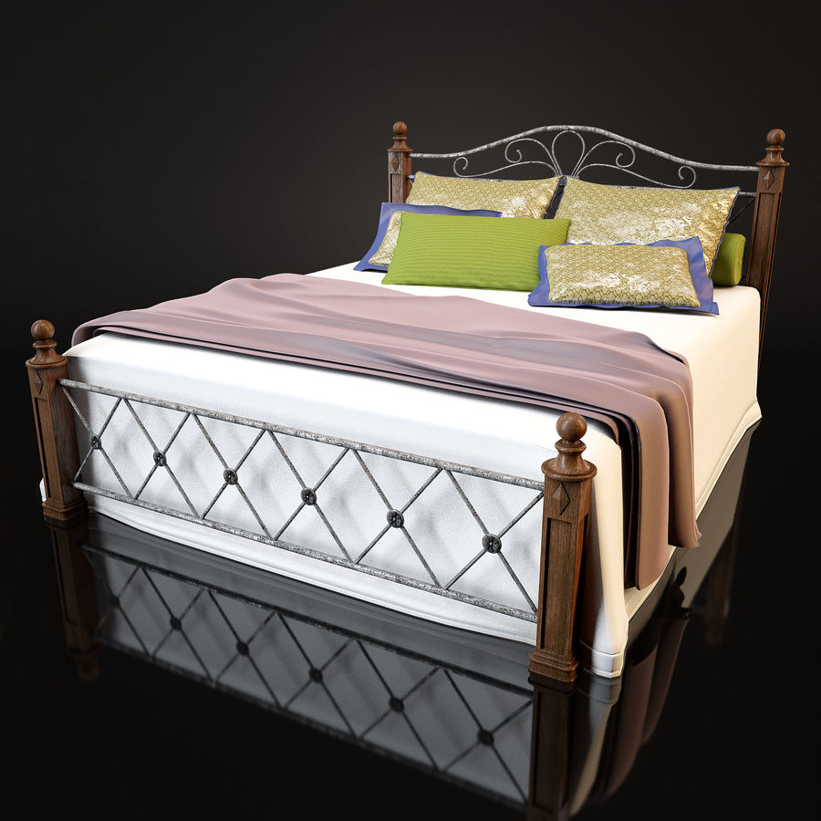 Bed_02 royalty-free 3d model - Preview no. 2