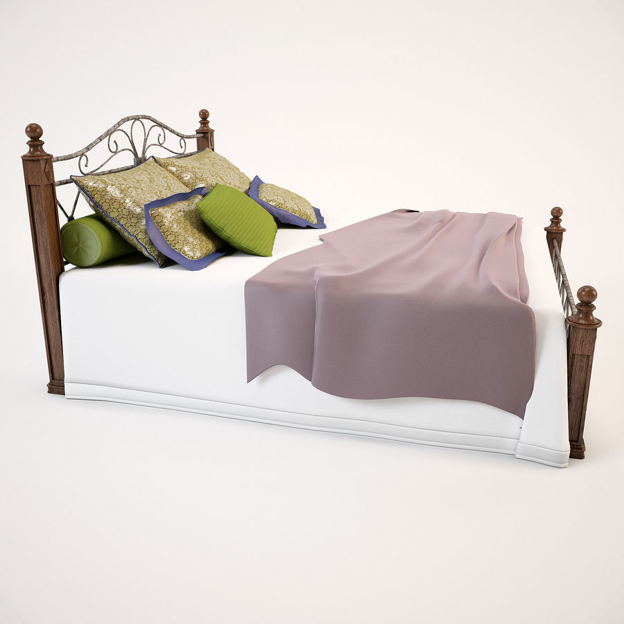 Bed_02 royalty-free 3d model - Preview no. 5