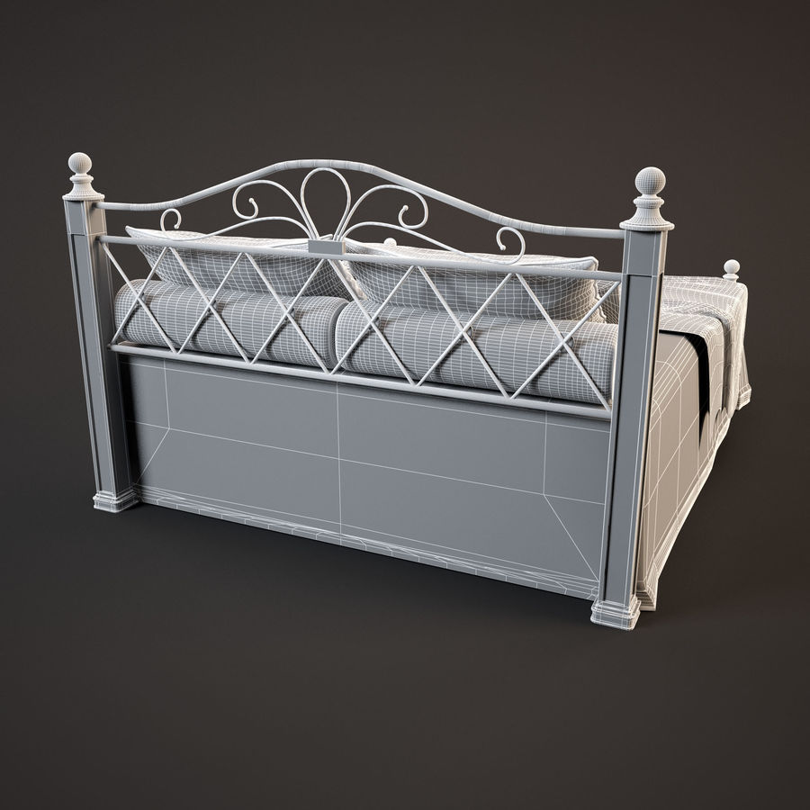 Bed_02 royalty-free 3d model - Preview no. 8