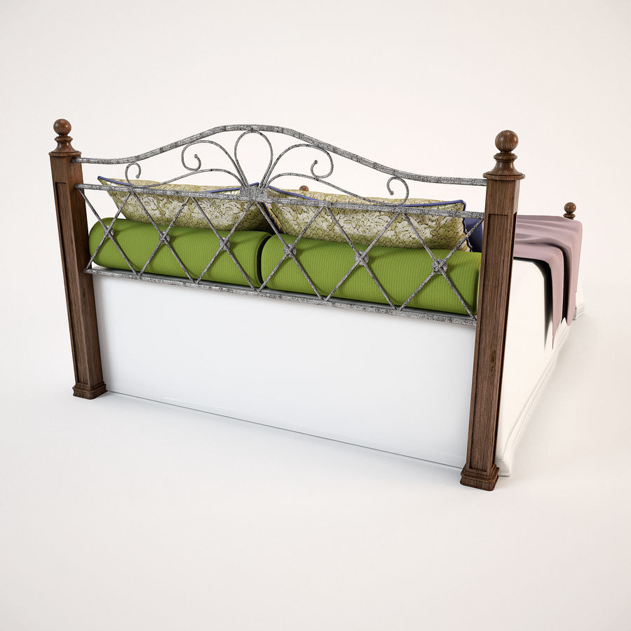 Bed_02 royalty-free 3d model - Preview no. 7