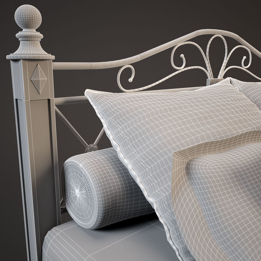 Bed_02 royalty-free 3d model - Preview no. 12