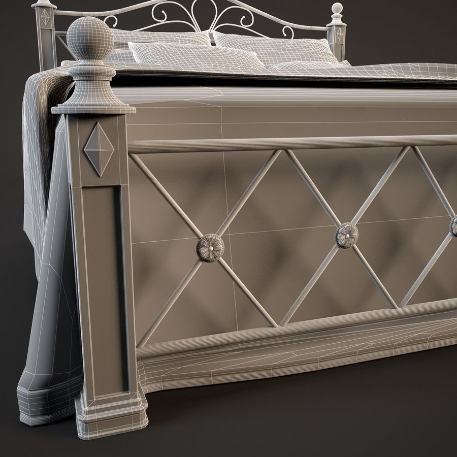 Bed_02 royalty-free 3d model - Preview no. 10