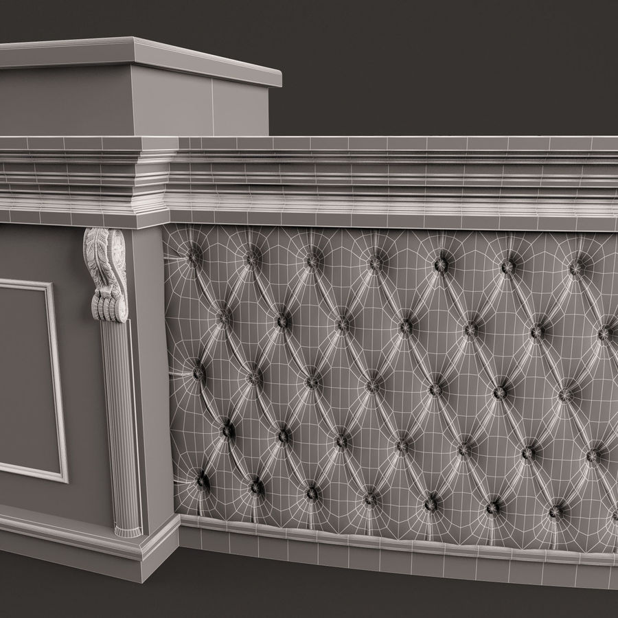 Reception Desk royalty-free 3d model - Preview no. 12
