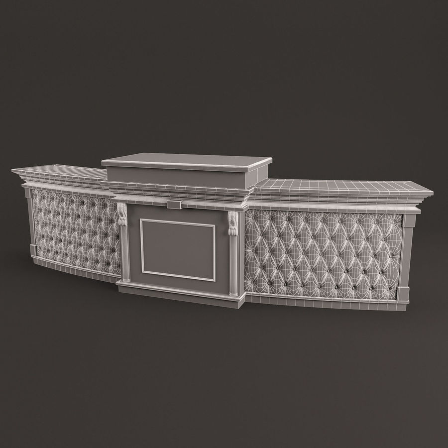 Reception Desk royalty-free 3d model - Preview no. 4