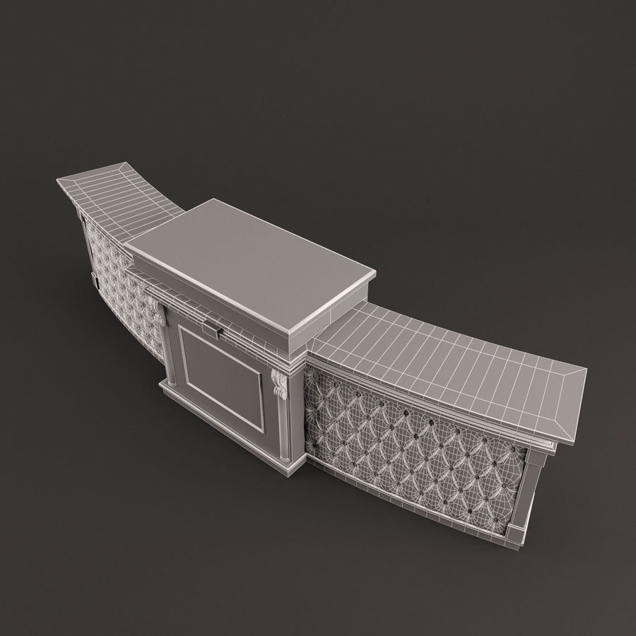 Reception Desk royalty-free 3d model - Preview no. 10