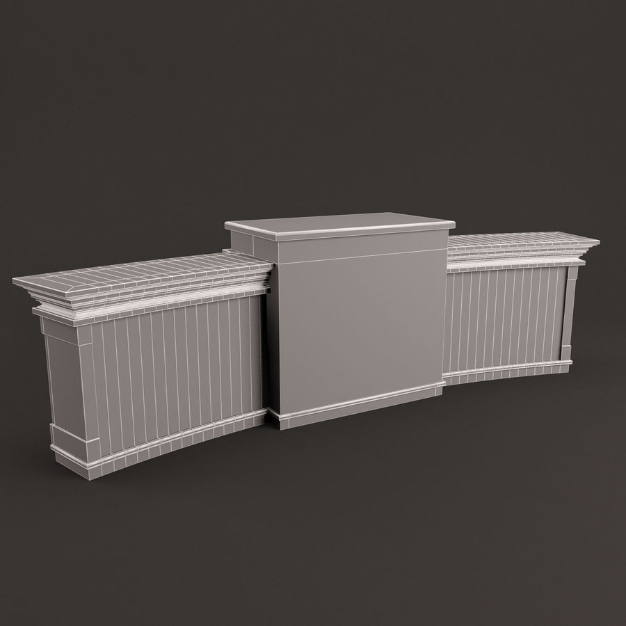 Reception Desk royalty-free 3d model - Preview no. 8