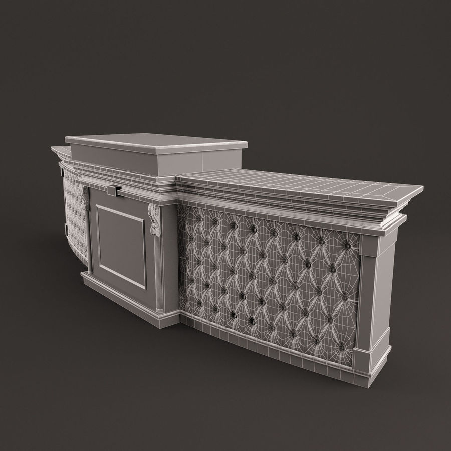 Reception Desk royalty-free 3d model - Preview no. 6