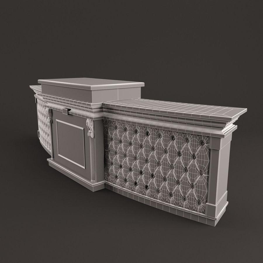 Resepsiyon masası royalty-free 3d model - Preview no. 6