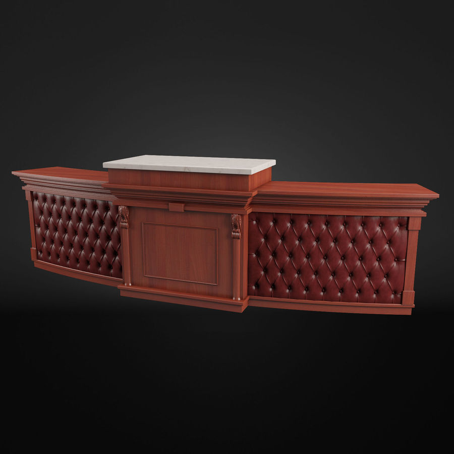 Reception Desk royalty-free 3d model - Preview no. 2