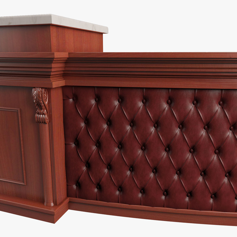 Reception Desk royalty-free 3d model - Preview no. 11