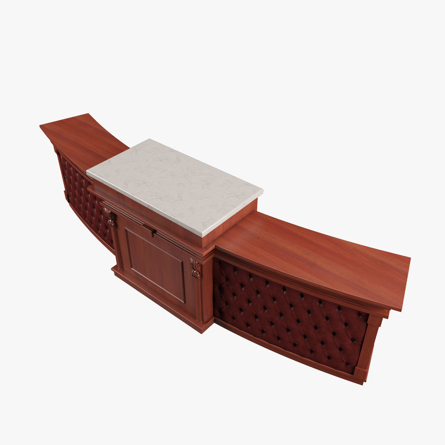 Reception Desk royalty-free 3d model - Preview no. 9
