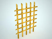 Ogrodzenie Bambusowe 3d model