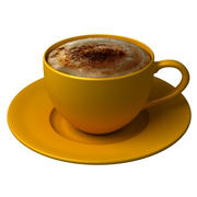 Tasse à cappuccino 3d model