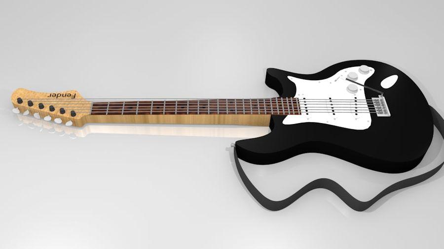 펜더 기타 royalty-free 3d model - Preview no. 2