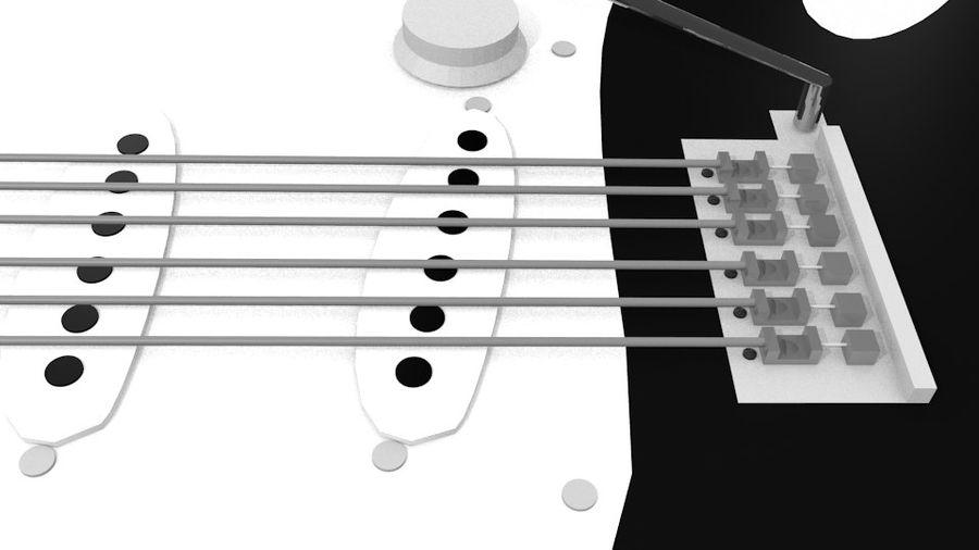 펜더 기타 royalty-free 3d model - Preview no. 4