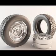 타이어 3d model
