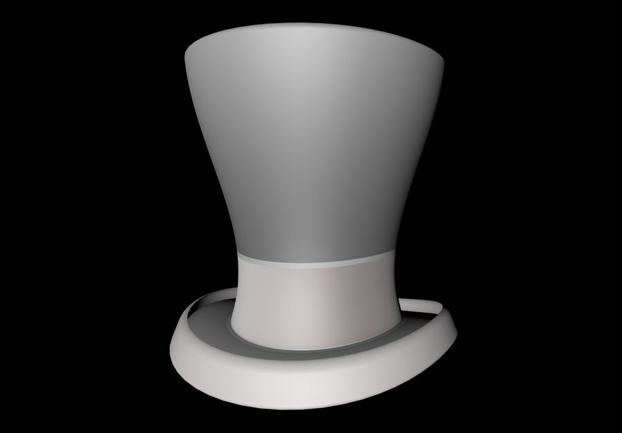 ślubny cylinder royalty-free 3d model - Preview no. 1