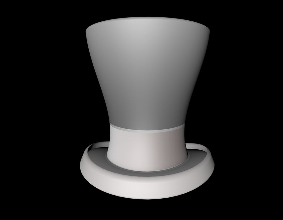 ślubny cylinder royalty-free 3d model - Preview no. 3