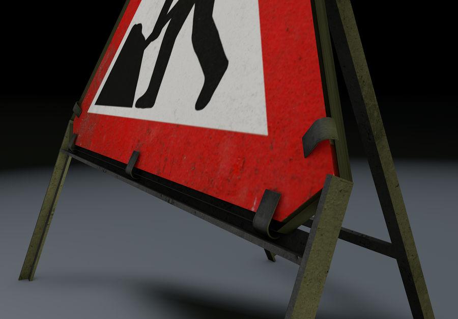 znak drogowy mężczyzn w pracy royalty-free 3d model - Preview no. 4
