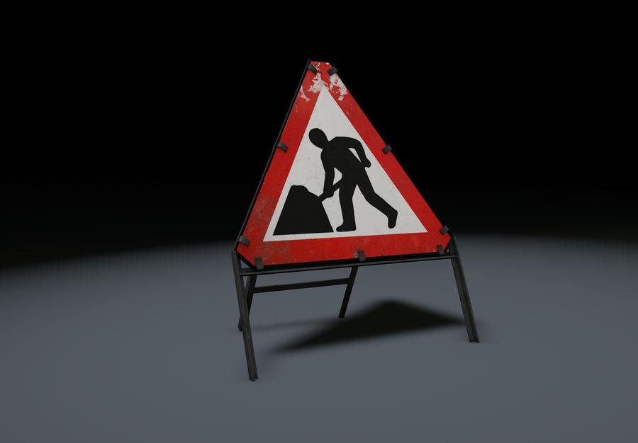 znak drogowy mężczyzn w pracy royalty-free 3d model - Preview no. 2