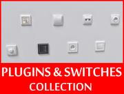 Kolekcja przełączników i wtyczek 3d model