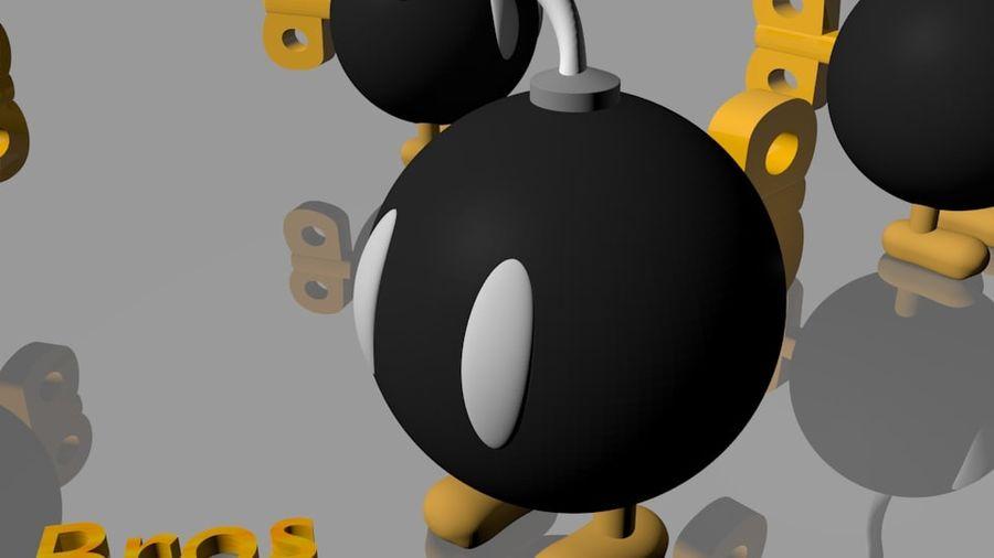 Mario Bros Bomb royalty-free 3d model - Preview no. 2