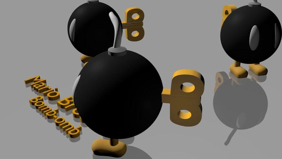 Mario Bros Bomb royalty-free 3d model - Preview no. 4