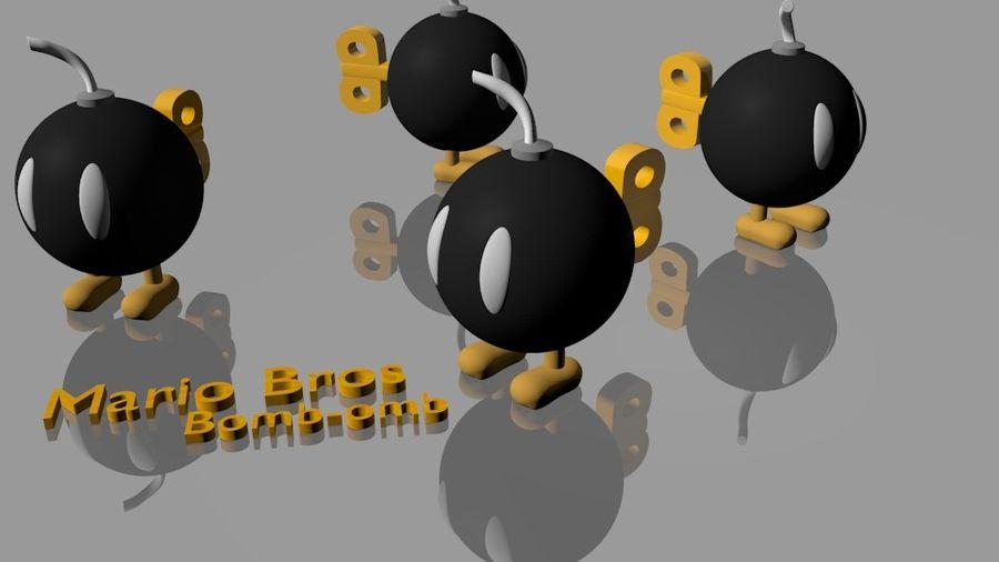 Mario Bros Bomb royalty-free 3d model - Preview no. 1