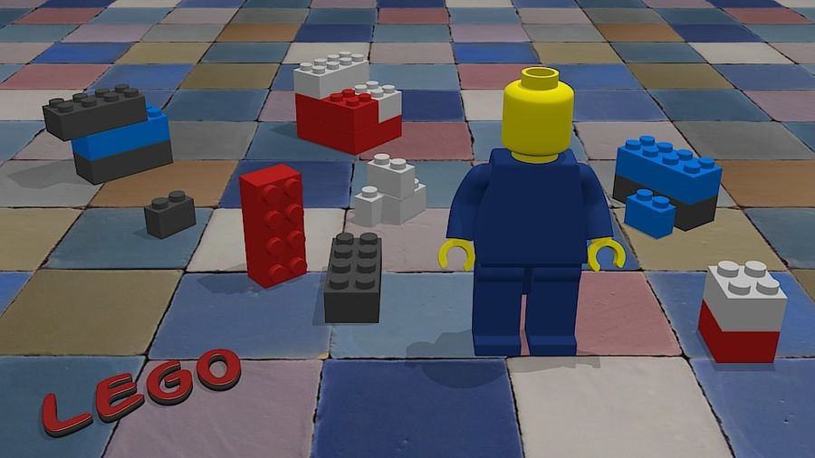 Lego royalty-free 3d model - Preview no. 1