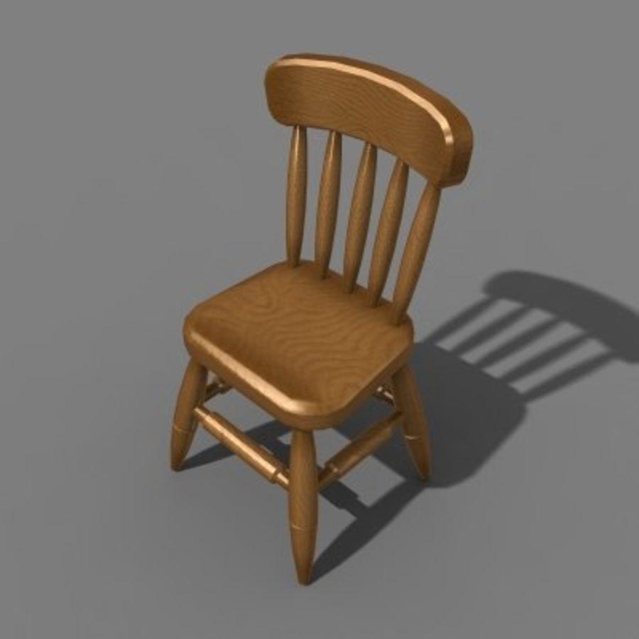 Proste krzesło royalty-free 3d model - Preview no. 3