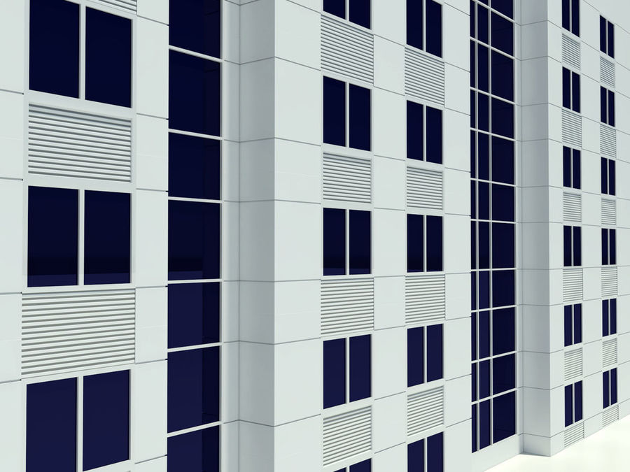 Hotel royalty-free 3d model - Preview no. 2