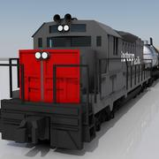 Freight Train 2 3d model