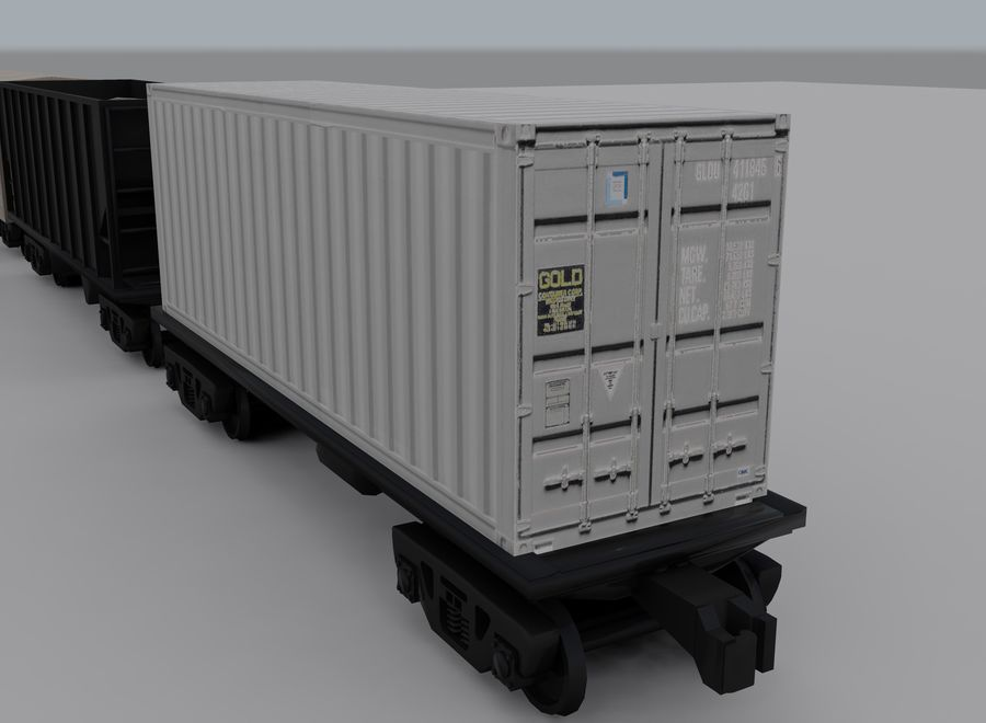Freight Train 2 royalty-free 3d model - Preview no. 14