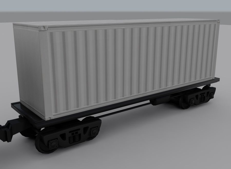 Freight Train 2 royalty-free 3d model - Preview no. 13