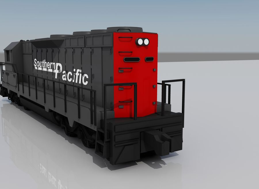 Freight Train 2 royalty-free 3d model - Preview no. 2