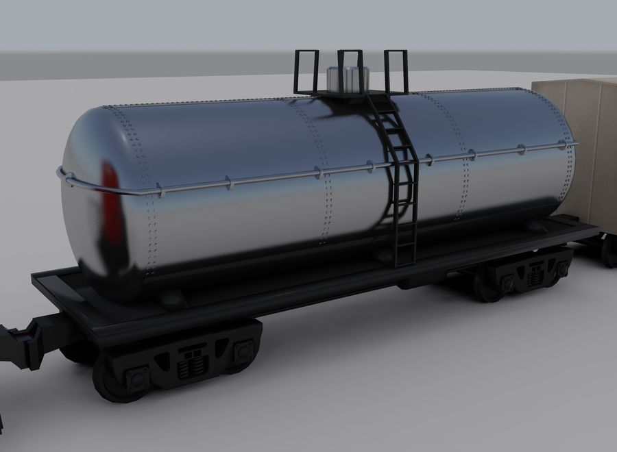Freight Train 2 royalty-free 3d model - Preview no. 7