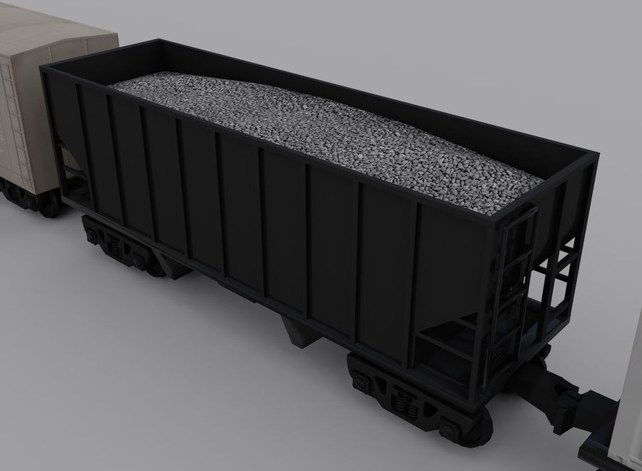 Freight Train 2 royalty-free 3d model - Preview no. 12