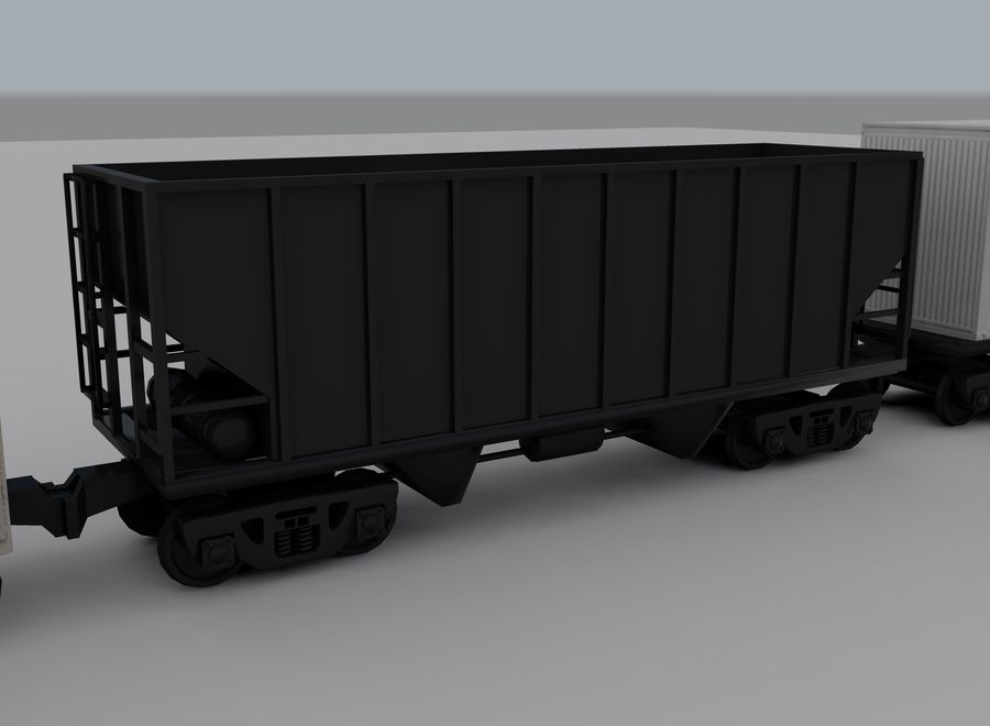 Freight Train 2 royalty-free 3d model - Preview no. 11