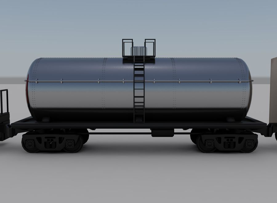 Yük treni 2 royalty-free 3d model - Preview no. 8