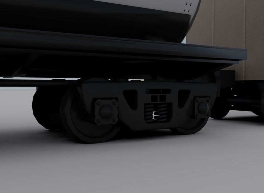 Freight Train 2 royalty-free 3d model - Preview no. 9
