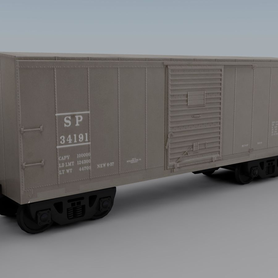 Trem de carga 2 royalty-free 3d model - Preview no. 10