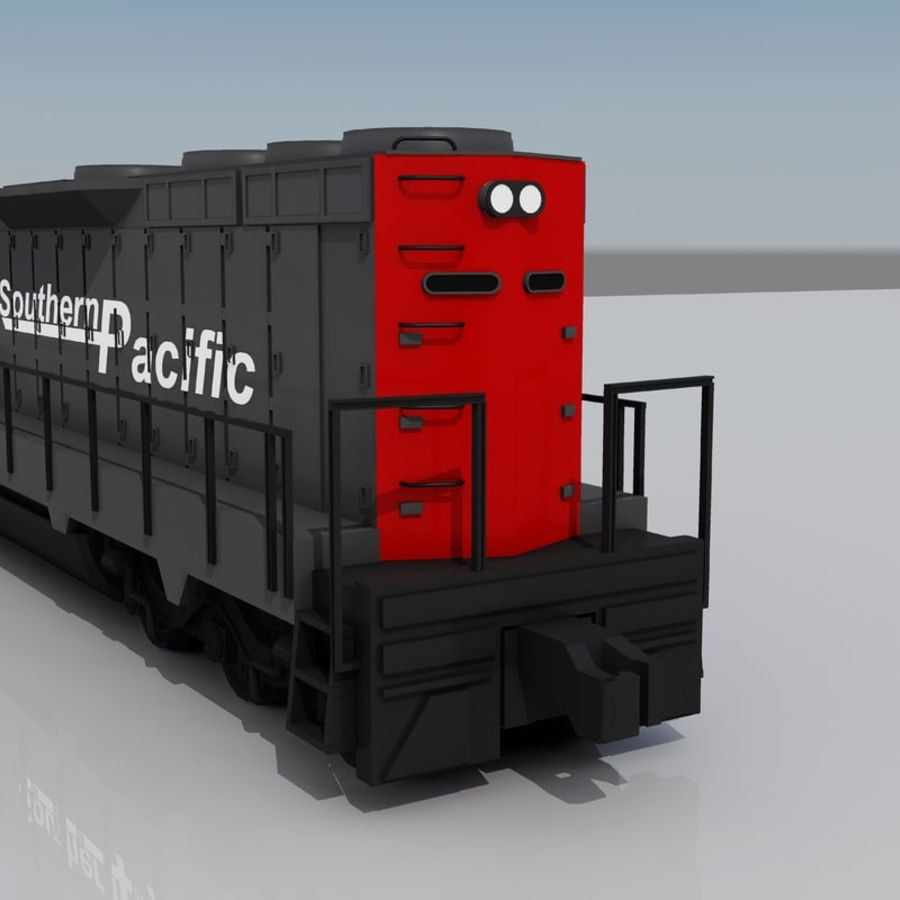 Trem de carga 2 royalty-free 3d model - Preview no. 2