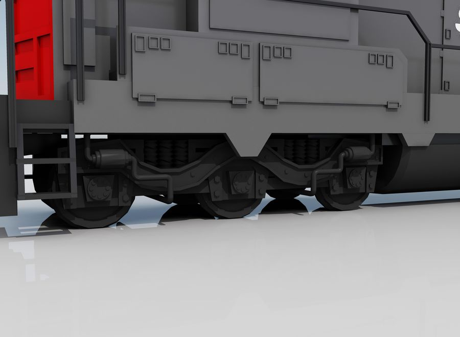 Freight Train 2 royalty-free 3d model - Preview no. 5